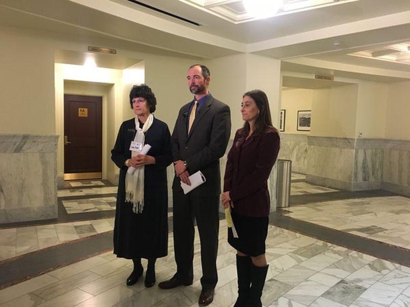 Reps. Judy Boyle, Sage Dixon and Heather Scott  (AP / Kimberlee Kruesi)