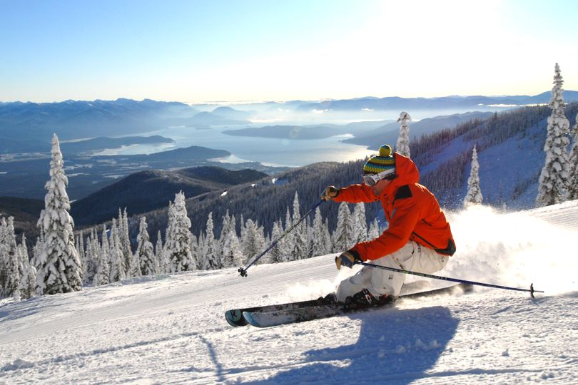 Schweitzer Mountain Resort offers scenic views of several mountain ranges. This year, visitors can order their tickets in advance through their smart phones.  (Courtesy of Schweitzer Mountain Resort. )