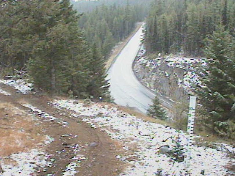 Some snow showed up on Sherman Pass on September 19, 2017. (Washington Department of Transportation)