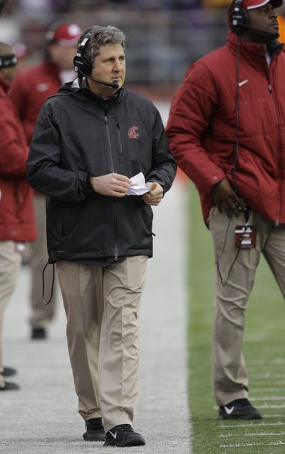 One thing Mike Leach already knows is that he has a deeper O-line. (Associated Press)