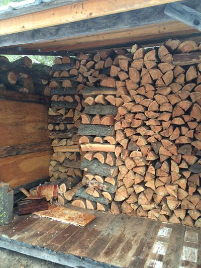 A properly stacked seasoning shed is a thing of beauty to those who appreciate a good fire. (Tom Clouse / The Spokesman-Review)