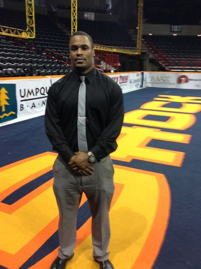 James Ruffin splits time between the Spokane Shock and U.S. Bank (Jim  Meehan)