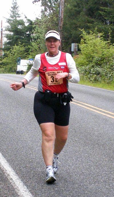 Carol Dellinger is seen at the Capital City Marathon  May 16.Courtesy Carol Dellinger (Courtesy Carol Dellinger)