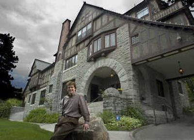 Bob Adolfson stands in front of the historic  Glover Mansion which he bought in 2004. He has returned to Spokane after living in Seattle.  (Christopher Anderson/ / The Spokesman-Review)
