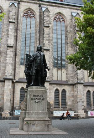 Statue of Johann Sebastian Bach at St. Thomas Church in Leipzig, Germany. (Cheryl-Anne Millsap / Photo by Cheryl-Anne Millsap)