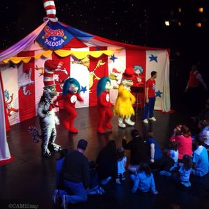 Characters from Dr. Seuss books entertain children of all ages on Carnival cruise ships.