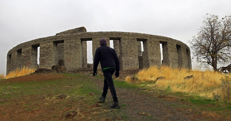 The Stonhenge Memorial offers sweeping views of the Maryhill area along the Washington side of the Columbia River. (John Nelson)