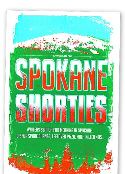 """Spokane Shorties,"" with cover art by Spokane artist Chris Bovey, is being sold as a Get Lit! fundraiser."