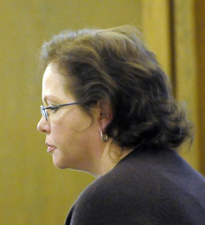 Shellye Stark sits through pre-trial motions last month.  (Jesse Tinsley / The Spokesman-Review)