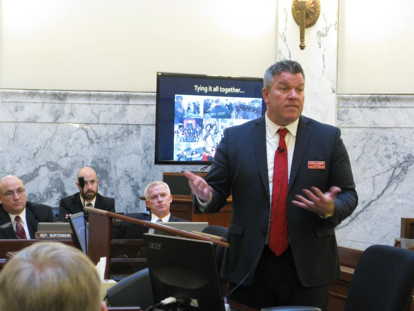 Kevin Kempf, Idaho state prisons chief, addresses the Legislature's joint budget committee on Wednesday (Betsy Z. Russell)