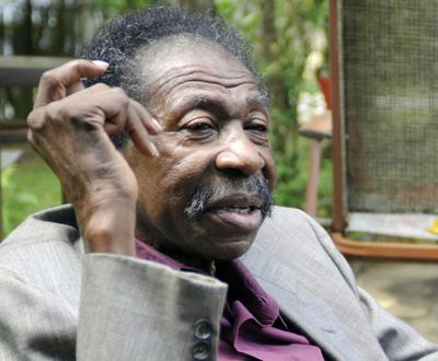 """In this Thursday, May 3, 2018 photo, Bruce Carver Boynton speaks at his home in Selma, Ala. Boynton, a civil rights pioneer from Alabama who inspired the landmark """"Freedom Rides"""