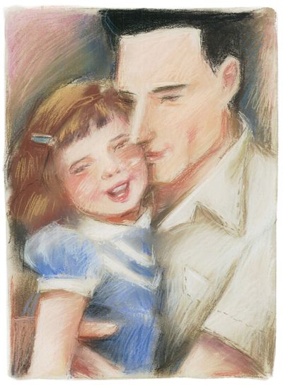 A father and daughter share a loving moment. Staff illustration by A. Heitner (Staff file illustration / The Spokesman-Review)