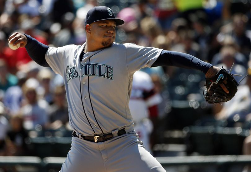 The Seattle Mariners traded starter Taijuan Walker, shown here against the White Sox in August, to Arizona for shortstop Jean Segura and prospects on Wednesday. (Nam Y. Huh / Associated Press)