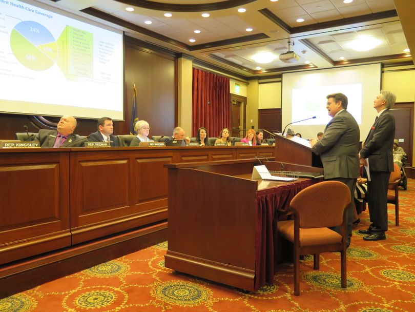 Idaho Insurance Director Dean Cameron addresses the House Health & Welfare Committee on Wednesday, Feb. 7, 2018, at the Idaho state Capitol. (Betsy Z. Russell)