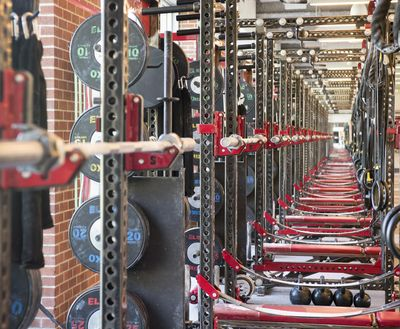 The Washington State Cougar weight rooms is a maze of stations and weights, shown Wednesday, June 21, 2017. (Jesse Tinsley / The Spokesman-Review)