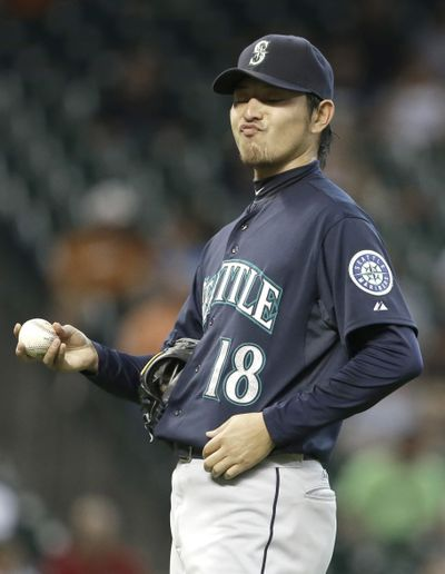 Seattle's Hisashi Iwakuma went a solid seven innings for the win. (Associated Press)