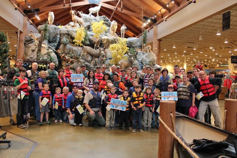 Cabela's in Post Falls lured 58 humans and one dog to don lifejackets on May  21 to celebrate Ready, Set, Wear It!