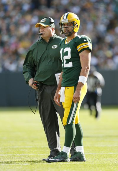 Packers coach Mike McCarthy and QB Aaron Rodgers are 0-2 versus the Patriots. (Associated Press)