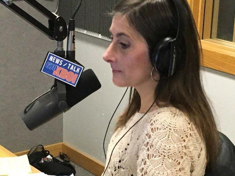 Rep. Heather Scott, R-Blanchard, speaks on Nate Shelman's radio show on 670 KBOI on Friday evening, Jan. 13, 2017 (KBOI2 News / Scott Logan)