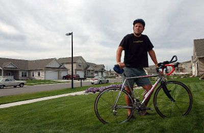 Coeur d'Alene resident Mark Hayden will be doing a 100-mile ride in a cancer fund-raiser in Portland this month.  (Kathy Plonka/the Spokesman-Review / The Spokesman-Review)
