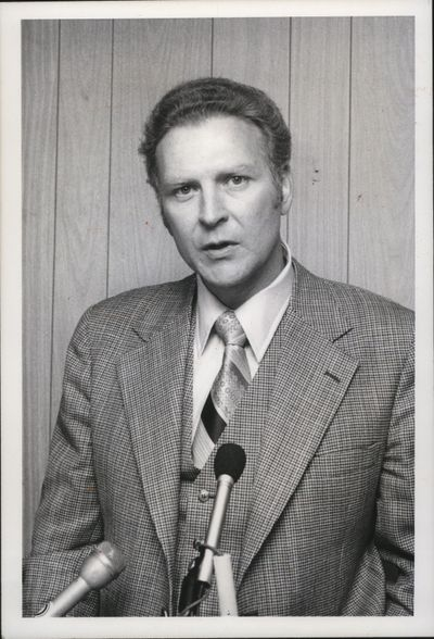 Former Idaho athletic director Bill Belknap, pictured in 1978, died Friday at the age of 81.  (Associated Press )