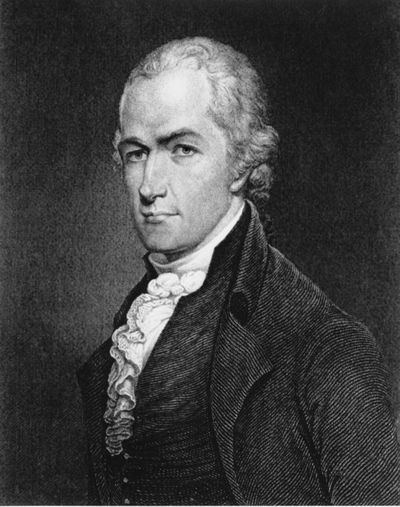 This is an undated photo of an etching of Alexander Hamilton.  (AP)