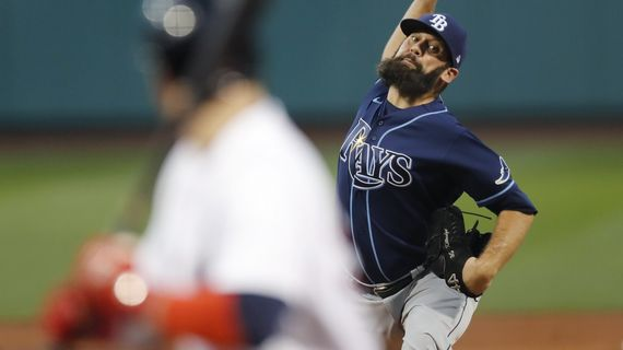 Tampa Bay's Andrew Kittredge, originally drafted by the Seattle Mariners in 2008, has struck out nearly one batter per inning during his four seasons with the Rays.  (Associated Press)
