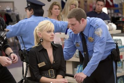 "Anna Faris, left, and Seth Rogen star in ""Observe and Report."" Warner Bros. (Warner Bros. / The Spokesman-Review)"