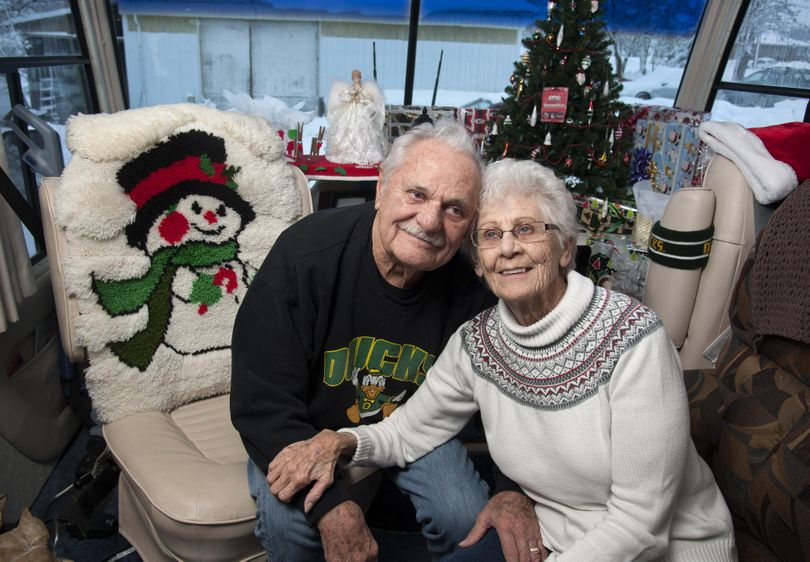 Jerrry and Bev Graham met in Billings, Montana. They were married Friday, Feb. 13, 1953. They now live in a motor home on Five Mile Prairie. (Dan Pelle / The Spokesman-Review)