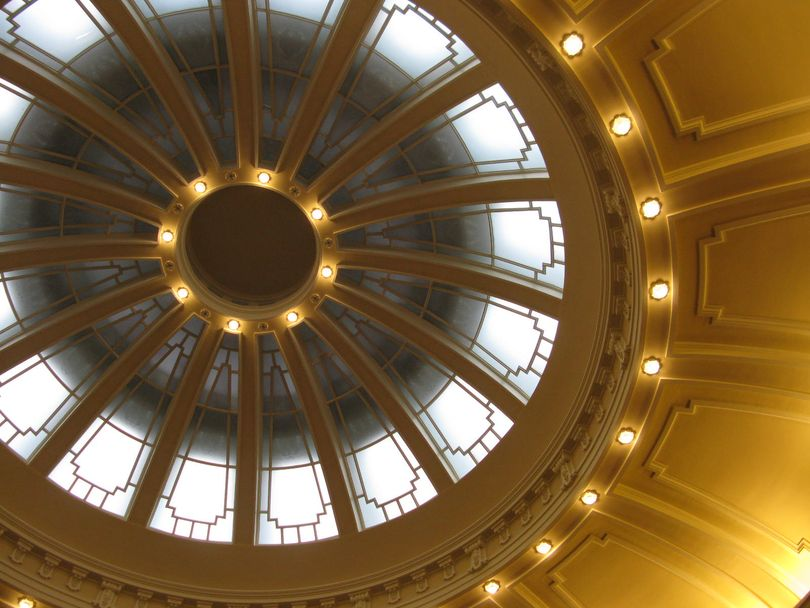 Dome over the Idaho Senate chamber (Betsy Z. Russell)