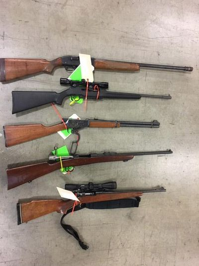 Spokane considers banning its police department from auctioning guns it has seized. (COURTESY SPOKANE POLICE DEPARTME / COURTESY SPOKANE POLICE DEPARTMENT)