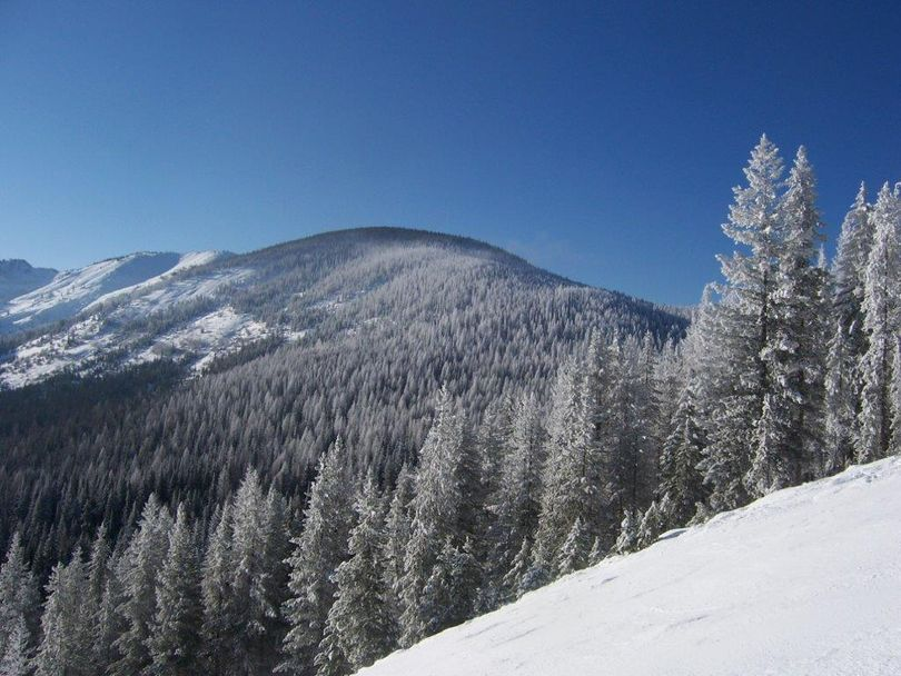 Photo shows the peak involved in the approved expansion for Lookout Pass Ski & Recreation Area. (Lookout Pass Ski & Recreation Area)