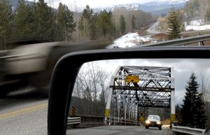 Replacement of the Dover Bridge is closer to receiving federal stimulus money after the Idaho Transportation Board's vote Thursday. The bridge's poor condition has received national attention.  (File / The Spokesman-Review)