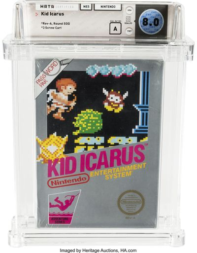 "An unopened copy of a 1987 cult-classic video game ""Kid Icarus"" belonging to Scott Amos of Reno, Nev., is shown in this photo. (Heritage Auctions / AP)"