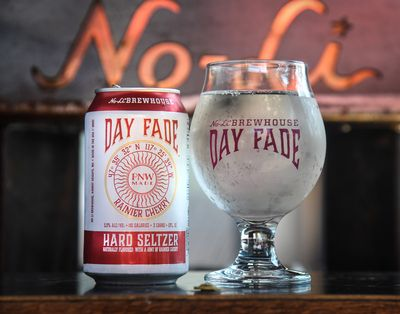 This photo form 2019 shows a No-Li Hard seltzer. No Li Brewery recently earned two gold medals at an international brewing competition.  (Dan Pelle/The Spokesman-Review)