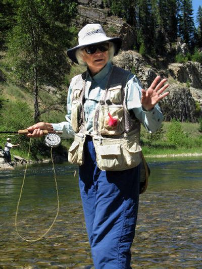 Supreme Court Associate Justice Sandra Day O'Connor spent the day fly-fishing along the St. Joe River near Avery, Idaho.  (Rich Landers / The Spokesman-Review)