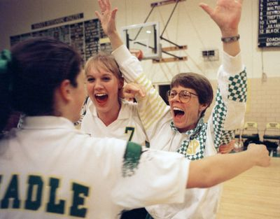 Former Shadle Park coach Linda Sheridan, right, died of Lou Gehrig's disease on Saturday. (File)