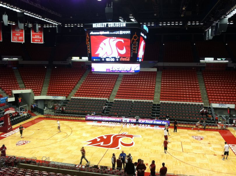 Beasley Coliseum two hours before tip-off against Cal. (Christian Caple)