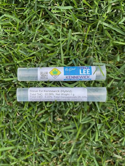 Golden Leaf Farm created a limited-edition pre-roll for Steve Lee, a City Council candidate in Kennewick.  (Courtesy photo)