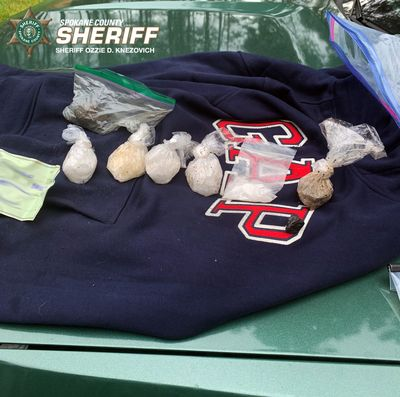Spokane County deputies found these golf-ball sized baggies of what they believe to be heroin and meth while investigating a suspected burglar.  (Spokane County Sheriff's Office)