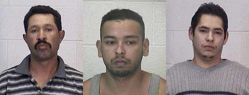Juan R. Baeza, Josue E. Trinidad and Jose Ruvio Lopez  (Grant County Sheriff's Office)