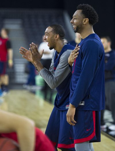 Former Gonzaga guards Eric McClellan, left, and Byron Wesley are two recent examples of the positive result of transferring from another school. (Colin Mulvany / The Spokesman-Review)
