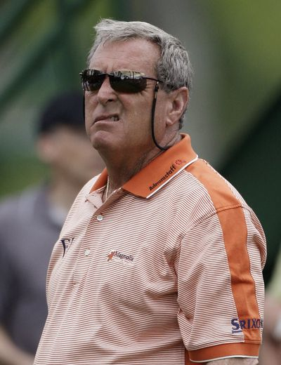 Associated Press Sunglasses hide teary-red eyes as Fuzzy Zoeller completes what he says is his final Masters. (Associated Press / The Spokesman-Review)