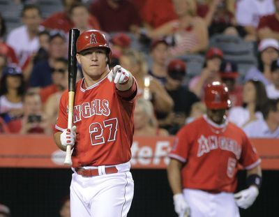 Mike Trout heads a Los Angeles Angels lineup that scored 773 runs this season – best in the majors. (Associated Press)