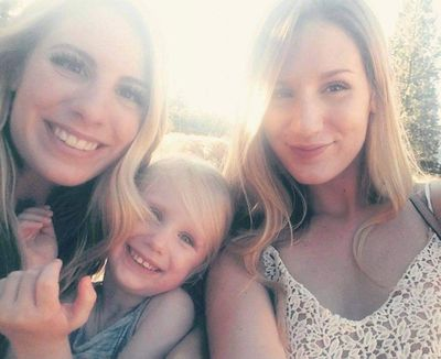 Makayla Young, 24, is pictured with her sister Emily Young and her niece McKinlee.  (Courtesy of the Young family.)