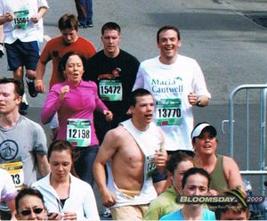 Marcus Riccelli, who was later elected to the state House, runs the 2009 Bloomsday with his then-boss, U.S. Sen. Maria Cantwell. This picture was provided by Riccelli.