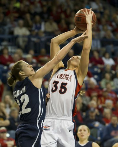 GU senior Claire Raap (35) is a spark off the bench for Bulldogs. (Colin Mulvany)