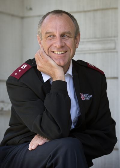 Capt. Kyle Smith will be leaving the Salvation Army of Spokane for a new post in Los Angeles. (Dan Pelle)