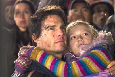 Tom Cruise plays a man who would do anything to protect his daughter, played  by Dakota Fanning, during a catastrophic alien attack in