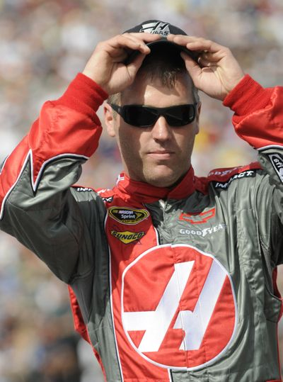 Jeremy Mayfield is serving a suspension for a failed drug test.  (Associated Press / The Spokesman-Review)
